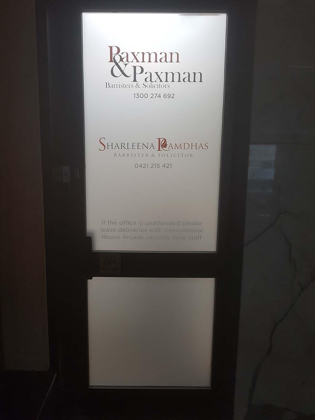 Paxman and Paxman Criminal Lawyers CBD office